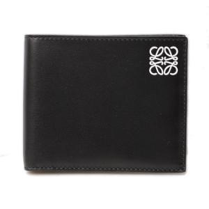 ロエベ 財布 メンズ LOEWE 折財布/札入れ カーフスキン BLACK/ブラック 109.54.M77|brand-pit