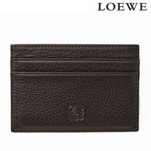 LOEWE ロエベ ビジネス カードホルダー/名刺入れ シープスキン ダークブラウン 176.76.320 新品 送料無料|brand-pit