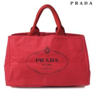 プラダ PRADA トートバッグ  カナパ キャンバス レッド|brand-pit