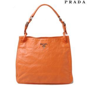 プラダ トートバッグ/ショルダーバッグ PRADA ヴィンテージレザー ライトオレンジ|brand-pit