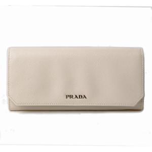 プラダ 長財布 PRADA 1M1132 SAFFIANO CORNER/サフィアノ TALCO/NERO ホワイト/ブラック|brand-pit