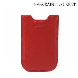 サンローラン カードケース/iPhone4/4Sケース/スマホケース SAINT LAURENT レザー レッド 315868|brand-pit