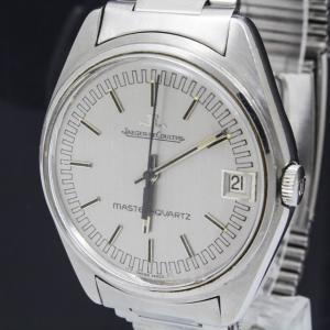 e3568 本物 ジャガールクルト マスタークォーツ メンズ 腕時計 クォーツ SS カレンダー 3針 Ref.23303-42