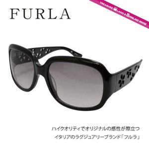 FURLA フルラ サングラス SU4767 0700 ブラック/スモークグラデーション レディース 国内正規品|brand-sunglasshouse