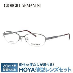 ジョルジオ アルマーニ フレーム 伊達 度付き 度入り メガネ 眼鏡 GA2696J 6DS 51サイズ GIORGIO ARMANI チタン/ハーフリム/オーバル メンズ レディース brand-sunglasshouse
