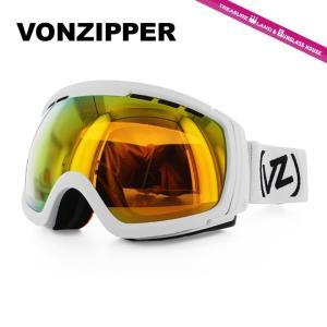 ボンジッパー ゴーグル VONZIPPER フィーノム FEENOM N.L.S. WFC AE21M-704 WHITE SATIN/FIRE CHROME アジアンフィット スキー スノーボード 国内正規品|brand-sunglasshouse