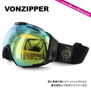 ボンジッパー ゴーグル VONZIPPER エルカボン EL KABONG BKD AE21M-700 BLACK GLOSS/GOLD CHROME アジアンフィット スキー スノーボード 国内正規品|brand-sunglasshouse
