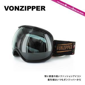 ボンジッパー ゴーグル VONZIPPER フィッシュボール FISHBOWL BDI AE21M-702 DITSY-BLACK GLOSS/BLACK CHROME アジアンフィット スノーボード 国内正規品|brand-sunglasshouse