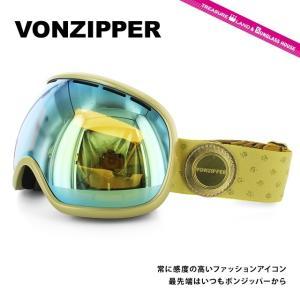 ボンジッパー ゴーグル VONZIPPER フィッシュボール FISHBOWL GGG AE21M-702 GOLD/GOLD CHROME ORANGE アジアンフィット スキー スノーボード 国内正規品|brand-sunglasshouse