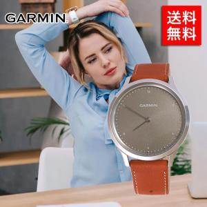 GARMIN スマートウォッチタイプ GARMIN 010-01850-7A vivomove HR Silver Tan Leatherの商品画像|ナビ