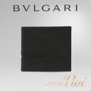 ブルガリ 財布 二つ折り財布 メンズ BVLGARI 二つ折り財布 36964 GRAIN BLK ...