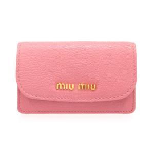 ミュウミュウmiu miuカードケース名刺入れ 新作 レザー カードケース 5M1122 MADRAS 新作モデル 新品 正規品|brand
