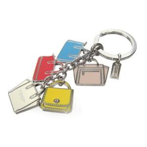 コーチCOACHキーホルダー バッグモチーフ ミックスキーホルダー(キーリング) 64528 SV/MC COACH 【新作モデル】 新品 正規品|brand