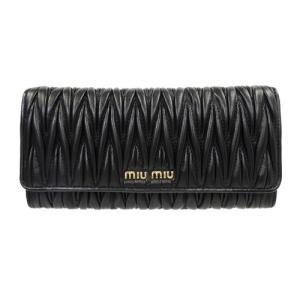 ミュウミュウ MIUMIU 財布 レディース マテラッセ 長財布 5MH109 MATELASSE NERO 新品 正規品|brand