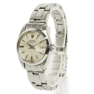 ロレックス オイスターパーペチュアル デイト SS レディース 腕時計 自動巻き シルバー 6916(中古)|brandbrand