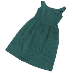 商品タイトル [M01949] ハリス Harriss リボン ワンピース パーティー ドレス 緑 ...