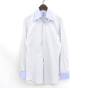 商品タイトル:◆新品同様◆ マリアサンタンジェロ メンズ コットン 長袖 Yシャツ グレー size...