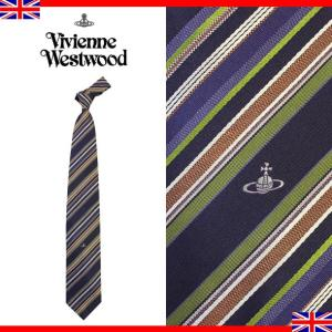 ヴィヴィアンウエストウッド ネクタイ レギュラータイ ストライプ シルク Vivienne Westwood 003 0 001|brandcojp