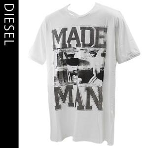 ディーゼル メンズ半袖Tシャツ DIESEL カジュアルTシャツ 丸首 T-COLORADO-RS T-SHIRT 00S10K-00DFM-100|brandcojp