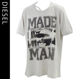 ディーゼル メンズ半袖Tシャツ DIESEL カジュアルTシャツ 丸首 T-COLORADO-RS T-SHIRT 00S10K-00DFM-98S|brandcojp