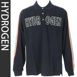 ハイドロゲン HYDROGEN メンズ長袖ポロシャツ 091025007 NERO|brandcojp
