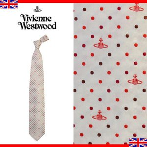 ヴィヴィアンウエストウッド ネクタイ レギュラータイ ドット ロゴ シルク Vivienne Westwood 103 0199 005|brandcojp