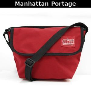 マンハッタンポーテージ Manhattan Portage メッセンジャーバッグ 斜めがけバッグ ショルダーバッグ 斜め掛け ななめがけ NYLON MESSENGER BAG (XXS) 1603 RED|brandcojp