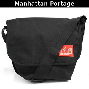 マンハッタンポーテージ Manhattan Portage メッセンジャーバッグ 斜めがけバッグ ショルダーバッグ 斜め掛け ななめがけ NYLON MESSENGER BAG JR(SM) 1605 BLK|brandcojp