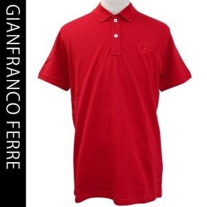 ジャンフランコフェレ メンズ半袖鹿の子ポロシャツ beachwear GIANFRANCO FERRE 54008 7 RED|brandcojp