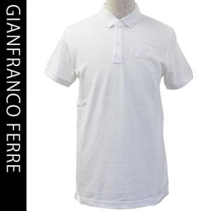 ジャンフランコフェレ メンズ半袖鹿の子ポロシャツ beachwear GIANFRANCO FERRE 54008 1 WHITE|brandcojp