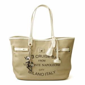 ヴィセッタンタトレ V73 チャーム&ポーチ付きトートバッグ Cruise Montenapoleone SMALL 7352-006|brandcojp