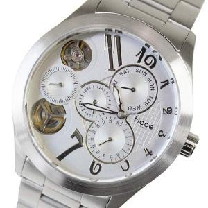 フィッチェ FICCE メンズアナログ腕時計 ツインムーブ(クォーツ&自動巻き) 正規代理店商品 FC-11041-01(半額以下)|brandcojp