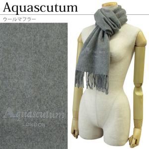 アクアスキュータム マフラー ウール イタリア製 Aquascutum FIRENZE 30X165FR 655/GRIGIO MEDIO|brandcojp