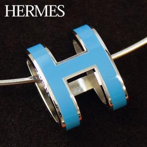 エルメス ポップアッシュ ポップHチョーカー ネックレス ペンダント シルバー&パラディウム メッキ金具 HERMES H147001FP-BL|brandcojp