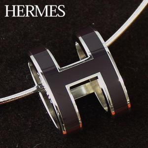 エルメス ポップアッシュ ポップHチョーカー ネックレス ペンダント シルバー&パラディウム メッキ金具 HERMES H147001FP-DBR|brandcojp