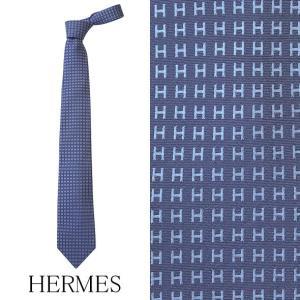 エルメス ネクタイ レギュラータイ H織りタイ HERMES HERMES-TIE-BL|brandcojp