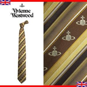 ヴィヴィアンウエストウッド ネクタイ レギュラータイ ストライプ ロゴ シルク Vivienne Westwood T85 FM01 0001|brandcojp