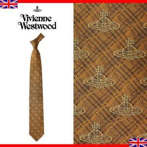 ヴィヴィアンウエストウッド ネクタイ レギュラータイ チェック ロゴ シルク Vivienne Westwood T85 FN55 0001|brandcojp