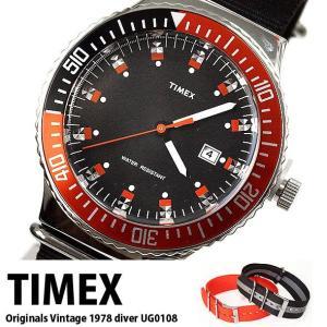 タイメックス 腕時計 メンズ アナログ ウォッチ TIMEX クォーツ 正規代理店商品 オリジナルヴィンテージ1978ダイバー UG0108|brandcojp