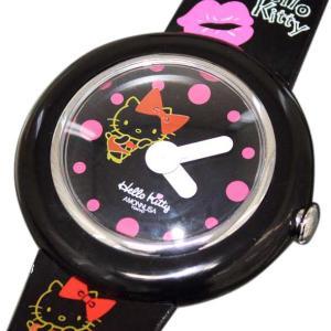 ハローキティ×アモンリザ HelloKitty×AMONNLISA レディースアナログ腕時計 正規代理店商品 W-KISS BK/BK brandcojp