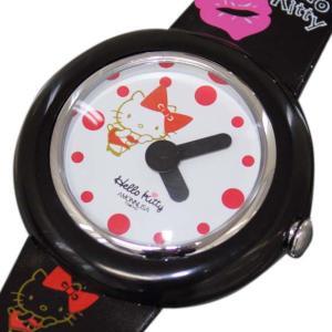 ハローキティ×アモンリザ HelloKitty×AMONNLISA レディースアナログ腕時計 正規代理店商品 W-KISS BK/WH brandcojp