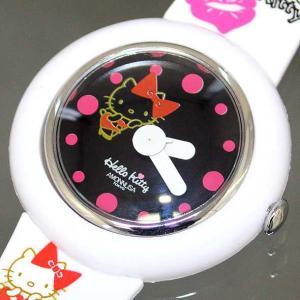 ハローキティ×アモンリザ HelloKitty×AMONNLISA レディースアナログ腕時計 正規代理店商品 W-KISS WH/BK brandcojp