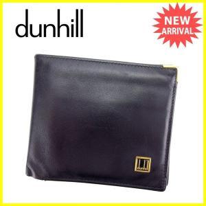 ダンヒル dunhill 二つ折り財布 メンズ ロゴプレート...
