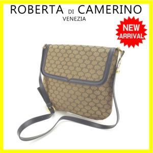 eb6a26493607 ロベルタ ディ カメリーノ Roberta Di Camerino バッグ ショルダーバッグ ベージュ ブラック レディース 中古 Bag