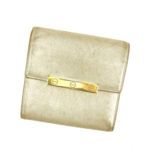 05d65e475793 カルティエ Cartier 財布 三つ折り財布 ラブコレクション ゴールド系 レディース メンズ 中古