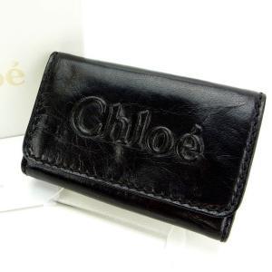 c904b3d6fc40 クロエ Chloe キーケース 6連 ブラック レディース 中古 Key Case