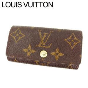 ルイヴィトン Louis Vuitton キーケース 4連 モノグラム ミュルティクレ4 レディース 中古 Key Case|branddepot-tokyo