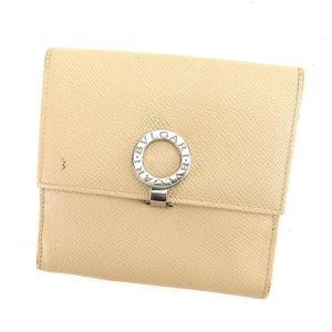 ■管理番号:C2102  【商品説明】 ブルガリの  二つ折り財布です。 定番人気のブルガリブルガリ...
