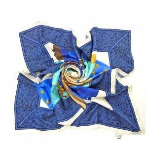 ディオール Dior スカーフ グローブ ブルー ブラウン レディース 中古 branddepot-tokyo