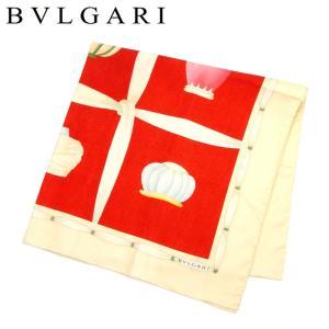ブルガリ Bvlgari スカーフ ターバンプリント トプカピ レッド ベージュ系 レディース メンズ 中古 branddepot-tokyo
